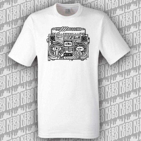 tshirt blanc ghettoblaster