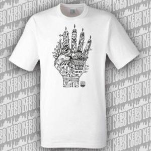 tshirt blanc hand
