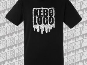 T-shirt black noir logo kebologo