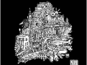 T-shirt l'Isle sur la Sorgue noir kébologo