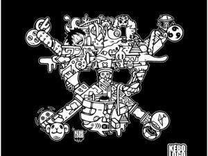 Design One Piece, pirate Luffy