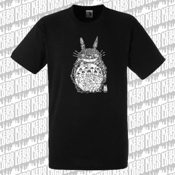 T-shirt noir Totoro